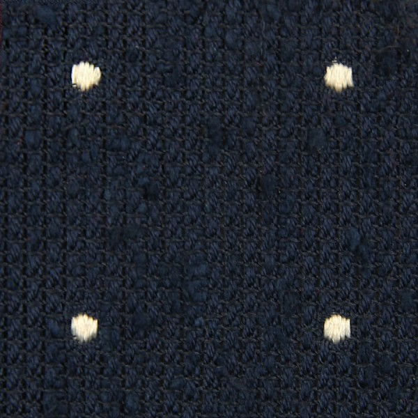Dotted Shantung Grenadine Bespoke Tie - Navy / White