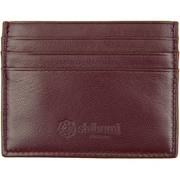 Scuola del Cuoio x Shibumi Credit Card Case - Burgundy - Lambskin