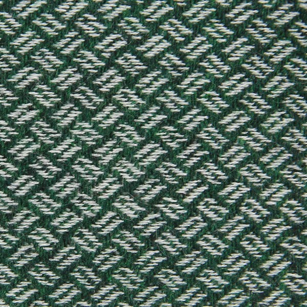 Geometrical Cashmere Bespoke Tie - Forest Green
