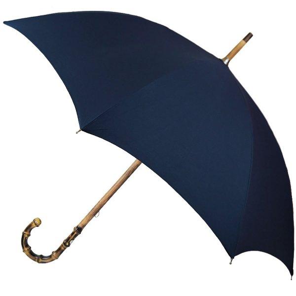 Shibumi x Mario Talarico Plain Navy Umbrella - Bamboo