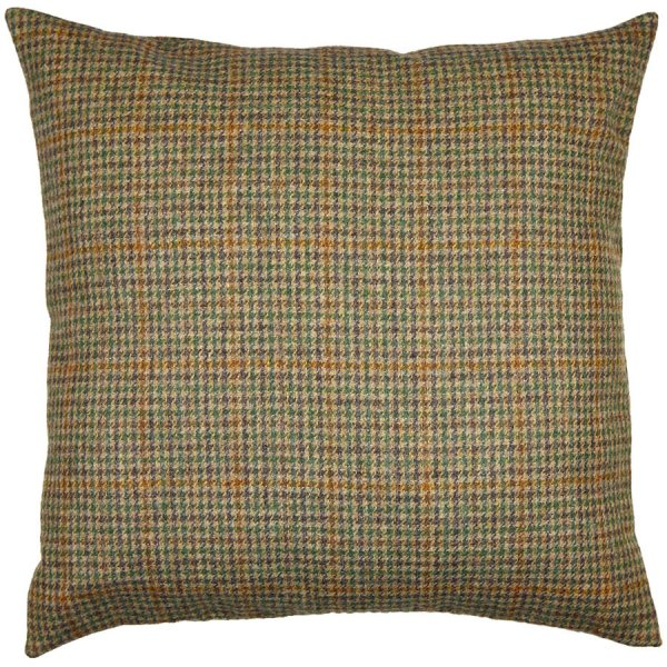 Vintage A. Moon Tweed Fabric - Brown Checked