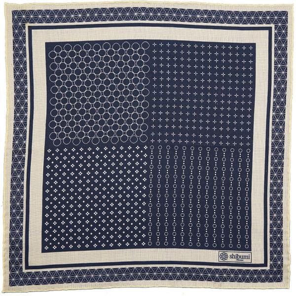 Geometrical Wool / Silk Pocket Square - Midnight