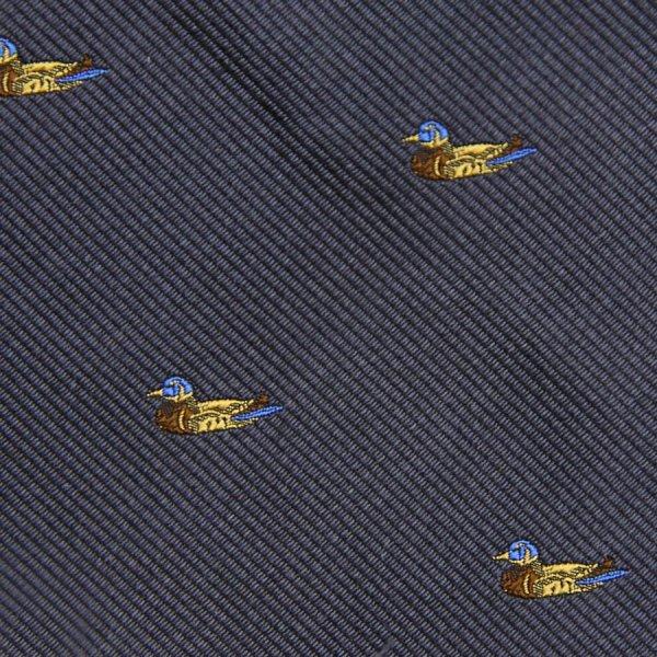 Vintage Bespoke Animal Crest Silk Tie - Grey