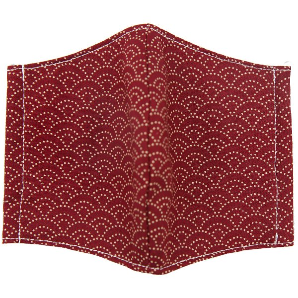 Kimono Motif Washable Cotton Mask - Cherry II