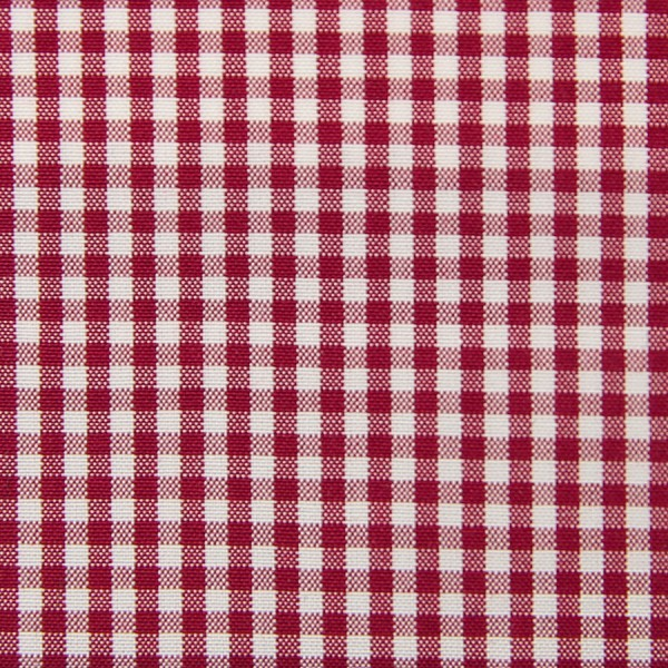 Poplin Made-To-Order Shirt - White / Red - Gingham Small