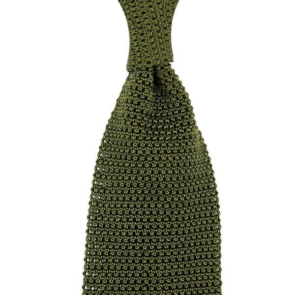 Silk Knit Ties - Olive