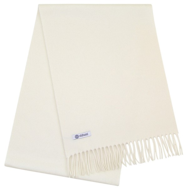 Cashmere Scarf - Cream - Plain