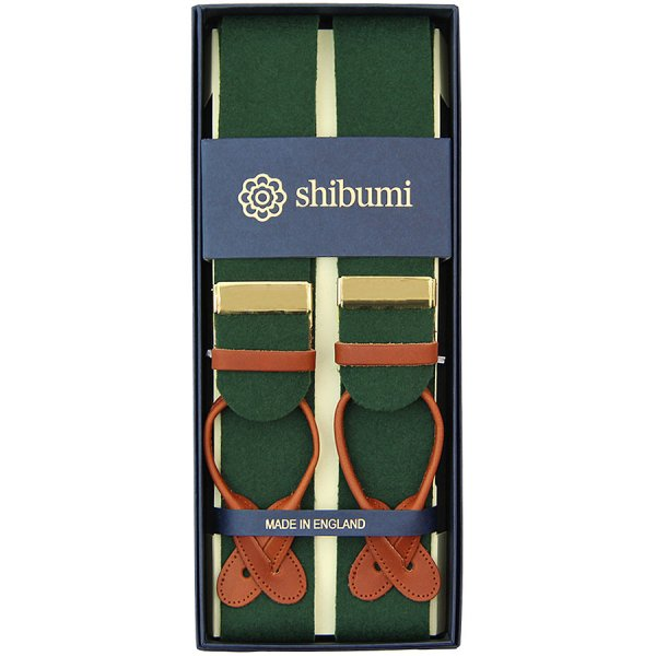 Boxcloth Braces - Green