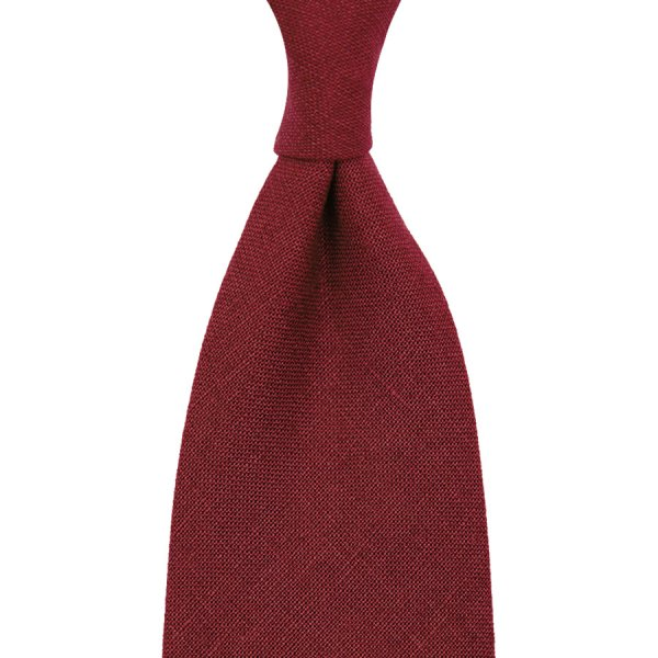 Japanese Ramie Tie - Cherry - Handrolled