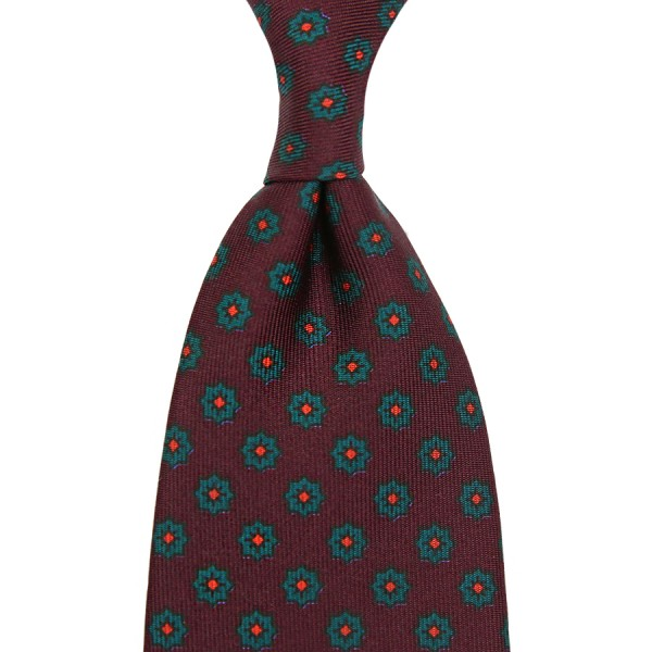 Ancient Madder Silk Tie - Burgundy II - Handrolled