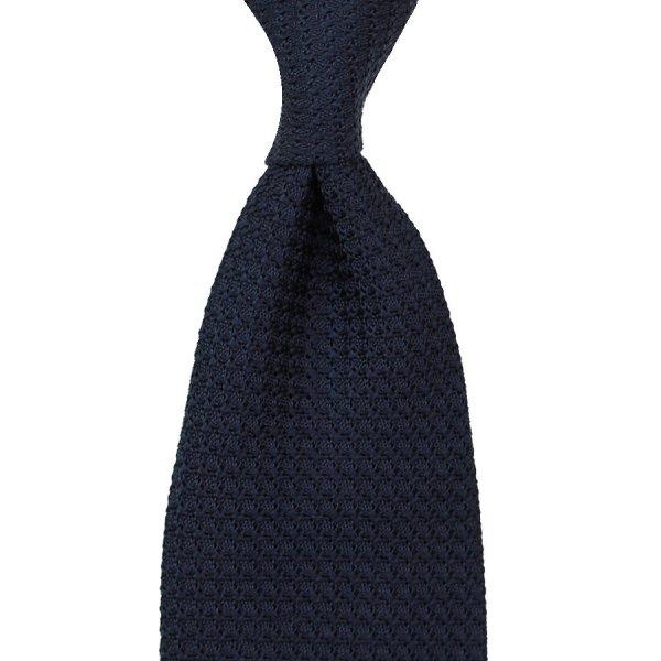 Grenadine / Garza Grossa Tie - Midnight - Handrolled