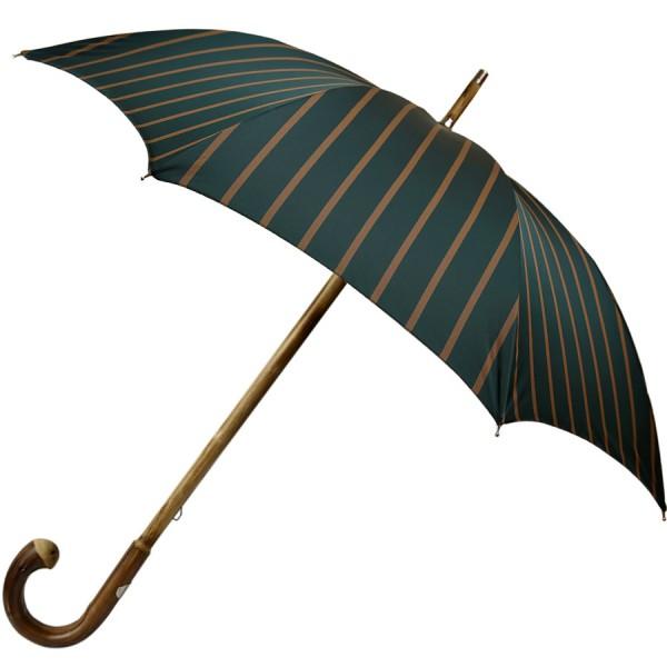 Green Striped Umbrella - Chestnut