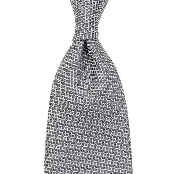 Grenadine / Garza Piccola Tie - Silver - Self-Tipped