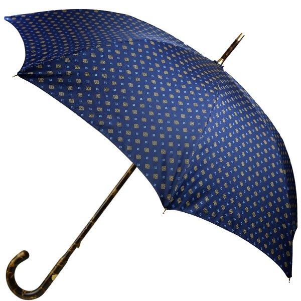 Floral Navy Umbrella - Hickory