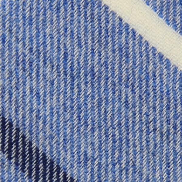 Striped Cashmere Bespoke Tie - Sky Blue