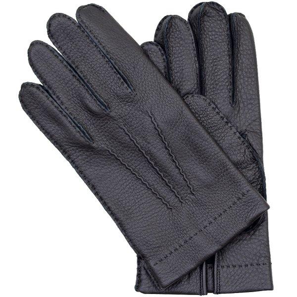 Shibumi Sen Deerskin Gloves With Silk Lining - Black
