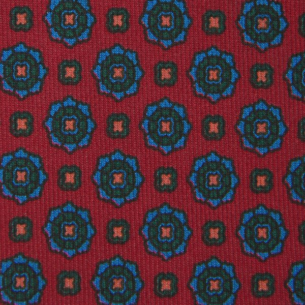 Ancient Madder Silk Bespoke Tie - Cherry