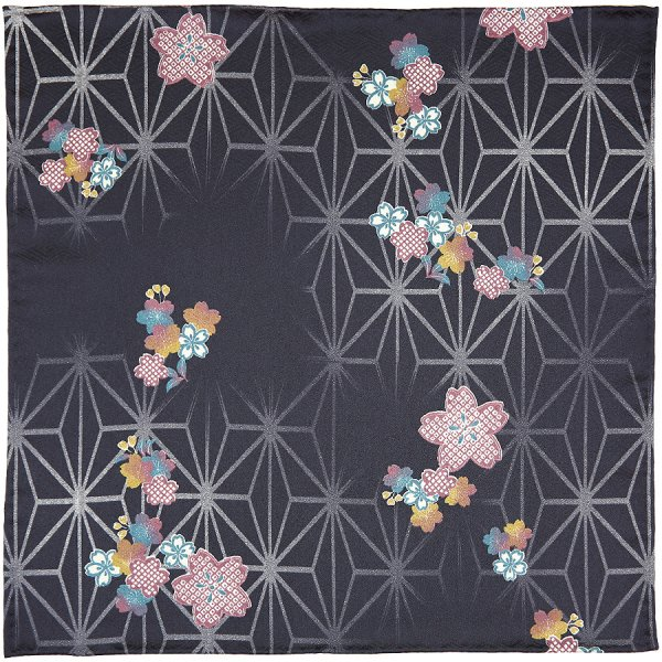 Kimono Silk Pocket Square - Winter - Handrolled