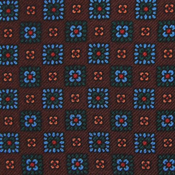 Ancient Madder Silk Bespoke Tie - Brown