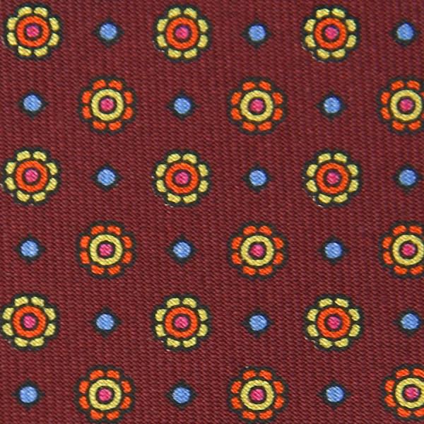 Floral Printed Bespoke Silk Tie - Cherry II