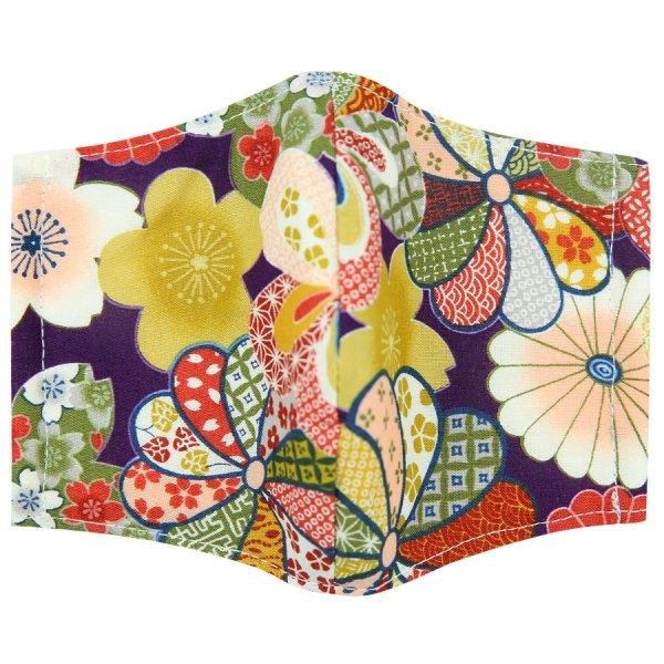 Kimono Motif Washable Cotton Mask - Multicolored VII
