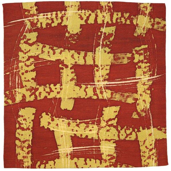 Vintage Kimono Silk Pocket Square - Cherry
