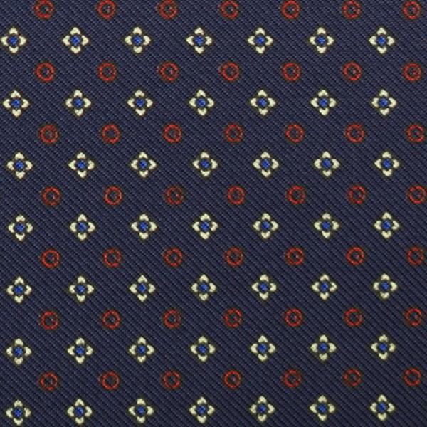 Floral Printed Silk Bespoke Tie - Navy II