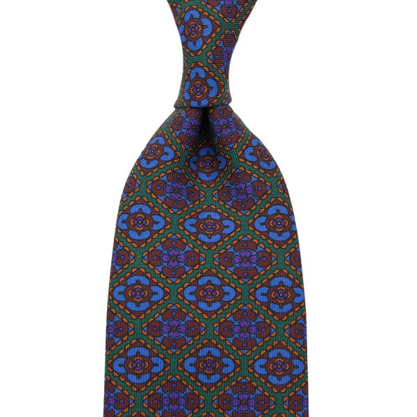 Ancient Madder Silk Tie - Forest - Hand-Rolled