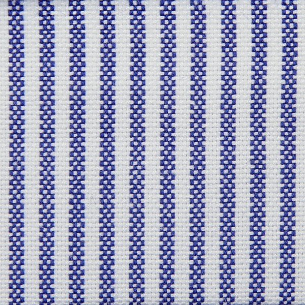 Oxford Made-To-Order Shirt - White / Blue - Pencil Stripe