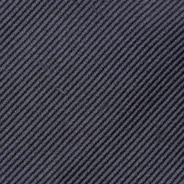Plain Bespoke Repp Silk Tie - Grey