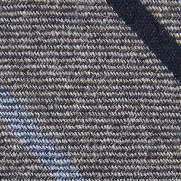 Striped Cashmere Bespoke Tie - Brown Grey