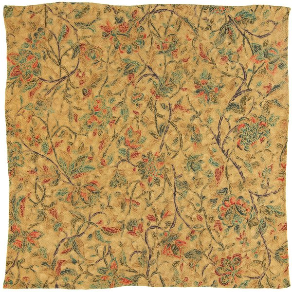 Vintage Kimono Silk Pocket Square - Ocher