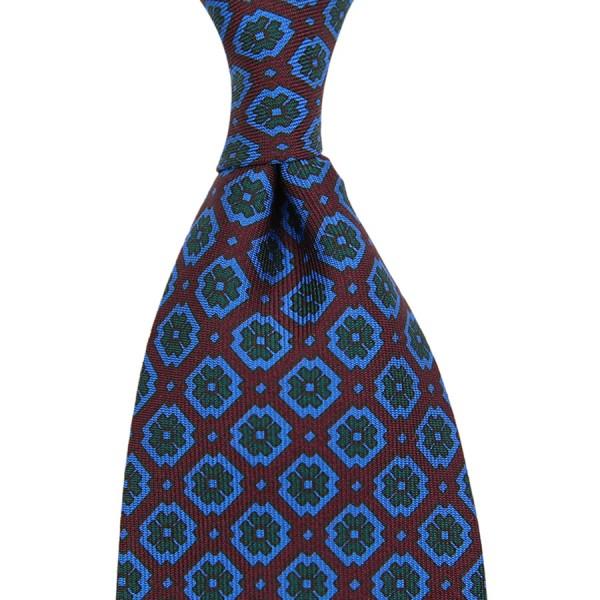 Ancient Madder Silk Tie - Burgundy III - Handrolled