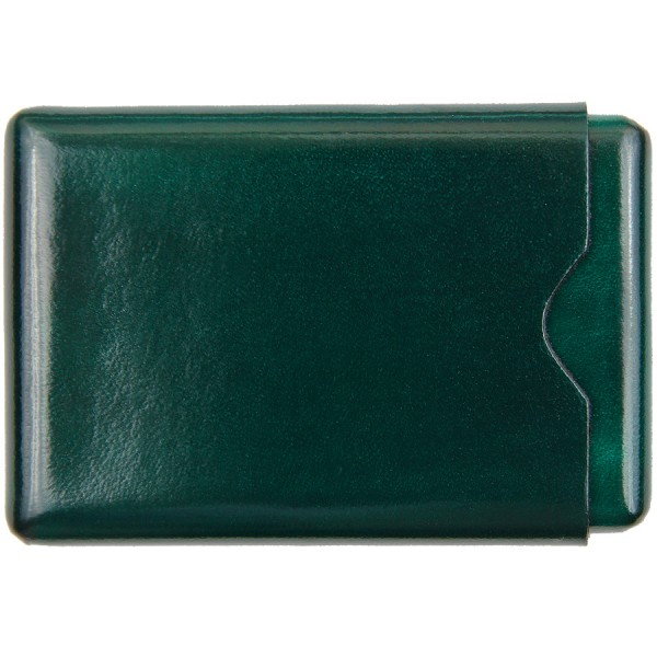Scuola del Cuoio x Shibumi Card Case - Bottle Green - Calfskin