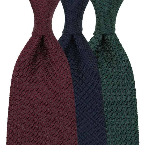 3x Plain Grenadine Ties - Colors Selectable