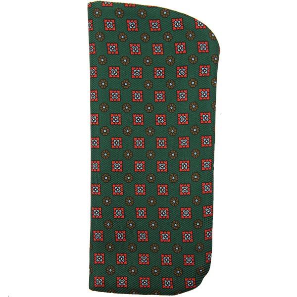 50oz Floral Printed Silk Glasses Case - Green