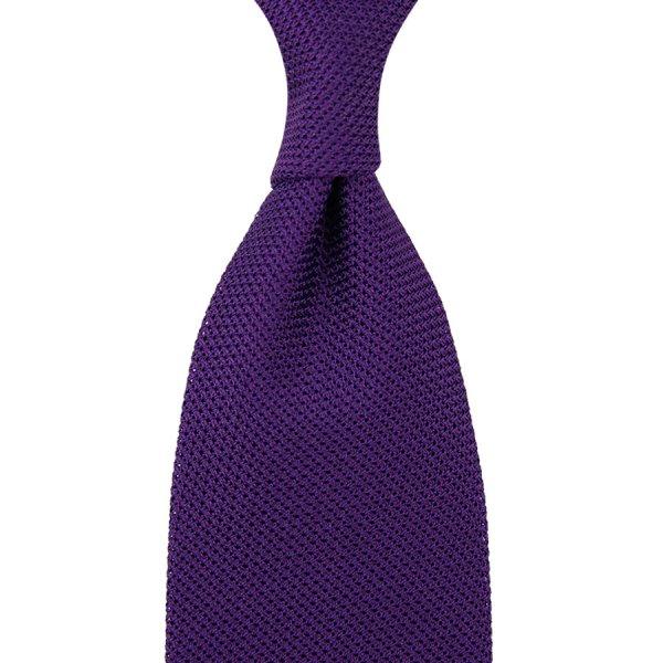 Grenadine / Garza Piccola Tie - Purple - Hand-Rolled