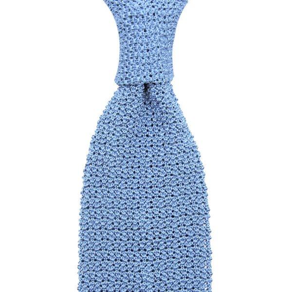 Crunchy Silk Knit Tie - Powder Blue