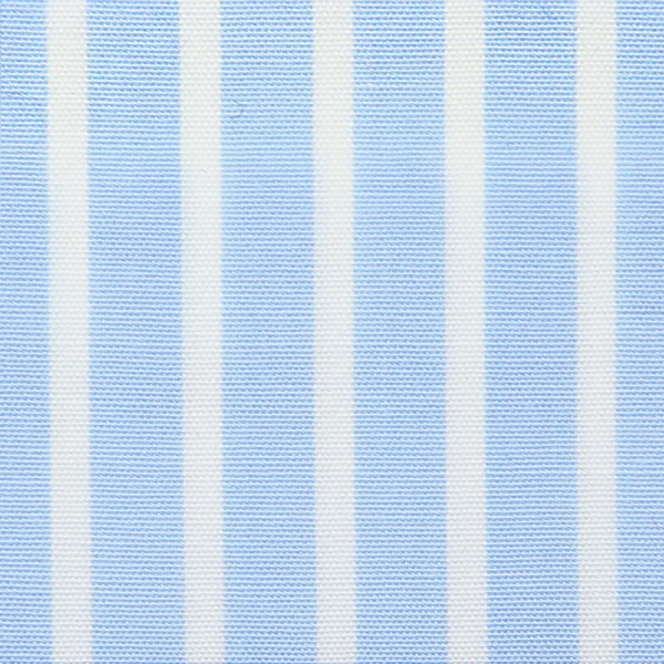 Poplin Made-To-Order Shirt - White / Sky Blue - Banker Stripe