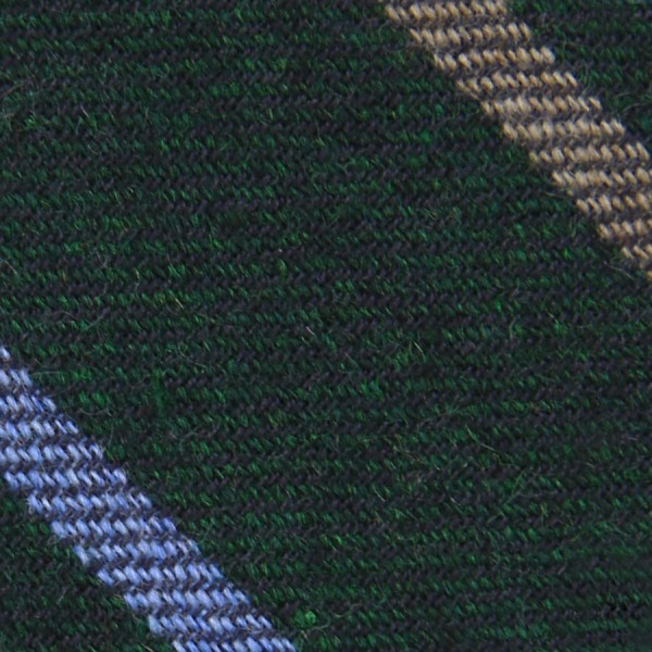 Striped Cashmere Bespoke Tie - Bottle Green