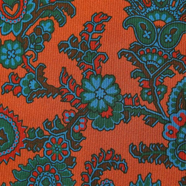 Ancient Madder Silk Bespoke Tie - Terracotta