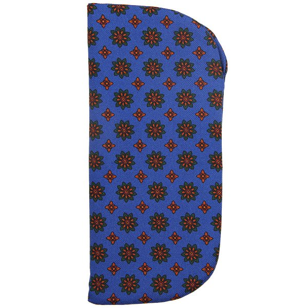 Ancient Madder Silk Glasses Case - Madder Blue