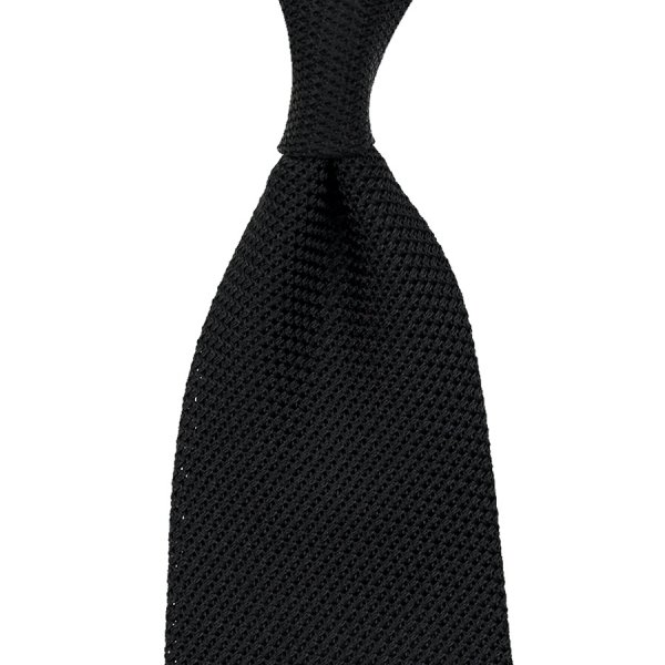 Grenadine / Garza Piccola Tie - Black - Handrolled