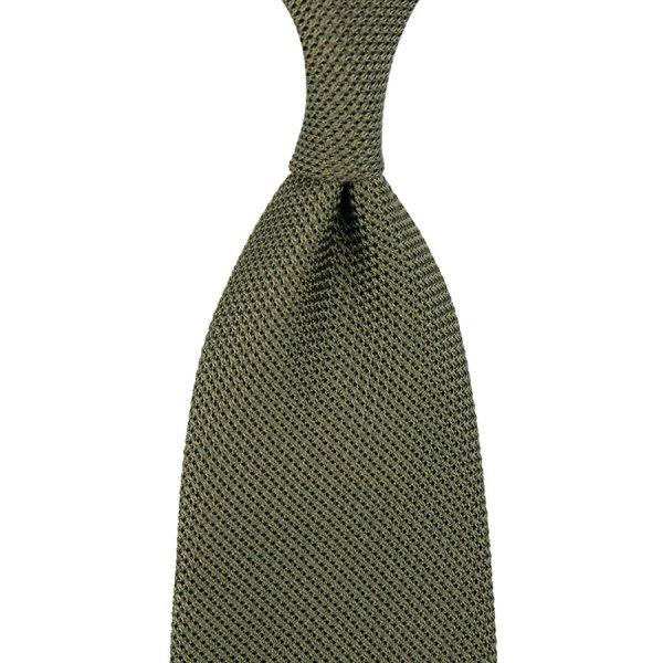 Grenadine / Garza Piccola Tie - Army - Hand-Rolled