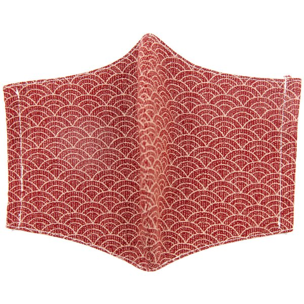 Kimono Motif Washable Cotton Mask - Cherry I