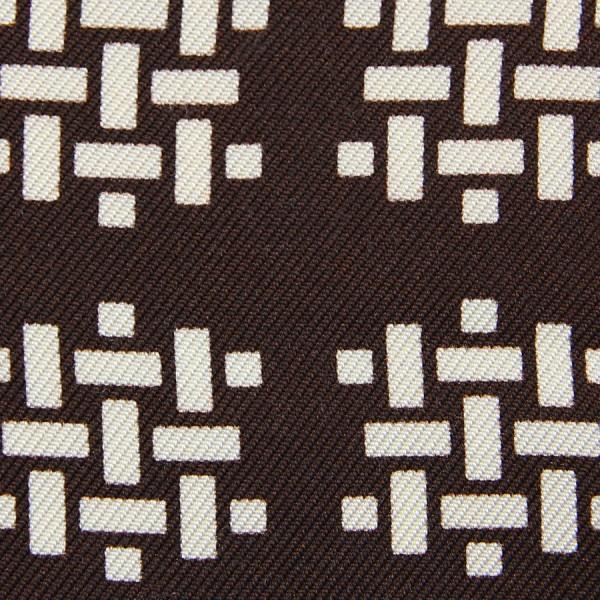 Vintage Printed Silk Bespoke Tie - Brown II