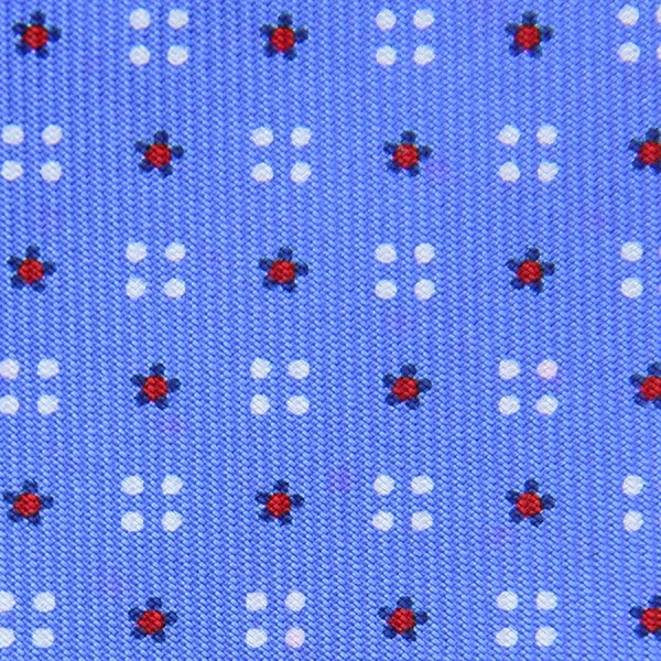 Floral Printed Bespoke Silk Tie - Sky Blue III