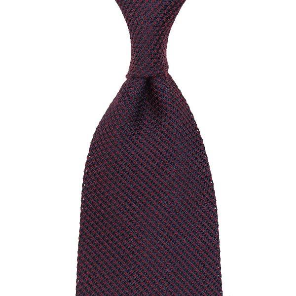 Grenadine / Garza Piccola Tie - Burgundy - Silk / Wool / Cashmere