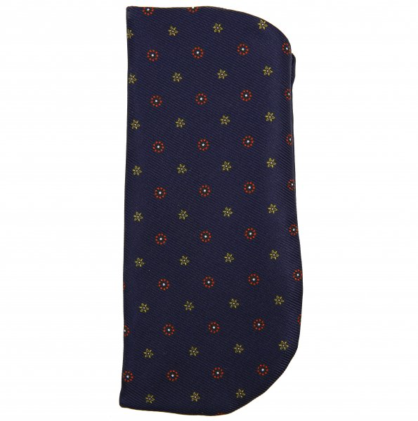 50oz Floral Printed Silk Glasses Case - Navy
