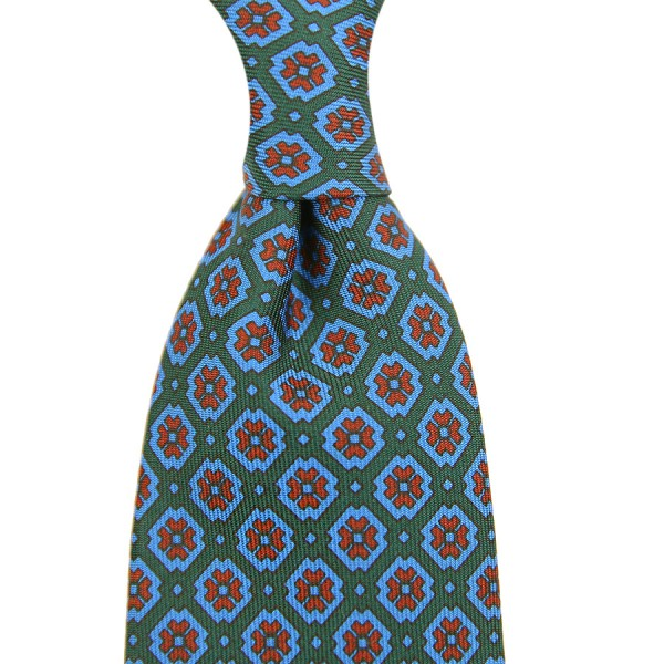 Ancient Madder Silk Tie - Forest Green - Handrolled